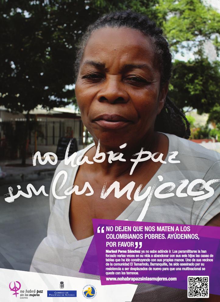 Marisol Perez, desplazada en varias ocasiones (Foto: Patricia Simón)