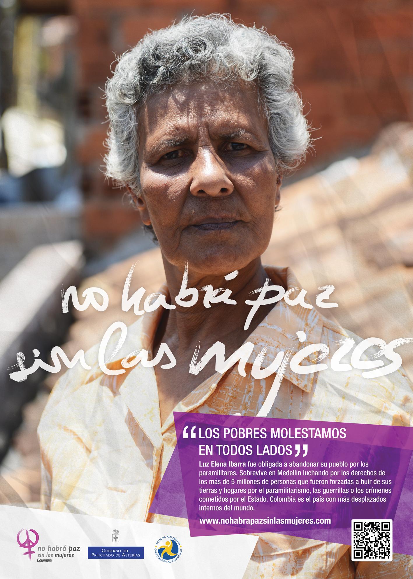 Luz Elena Ibarra, desplazada por el conflicto, y defensora de los derechos humanos.