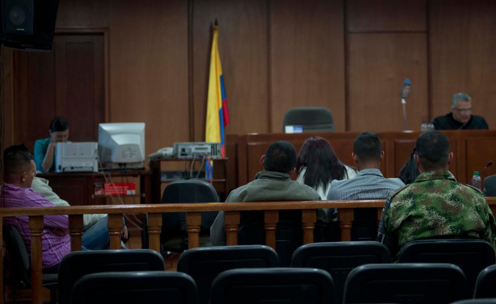 Lectura de la sentencia en el caso de Fair Leonardo en el caso de las Madres de Soacha (Alex Zapico)