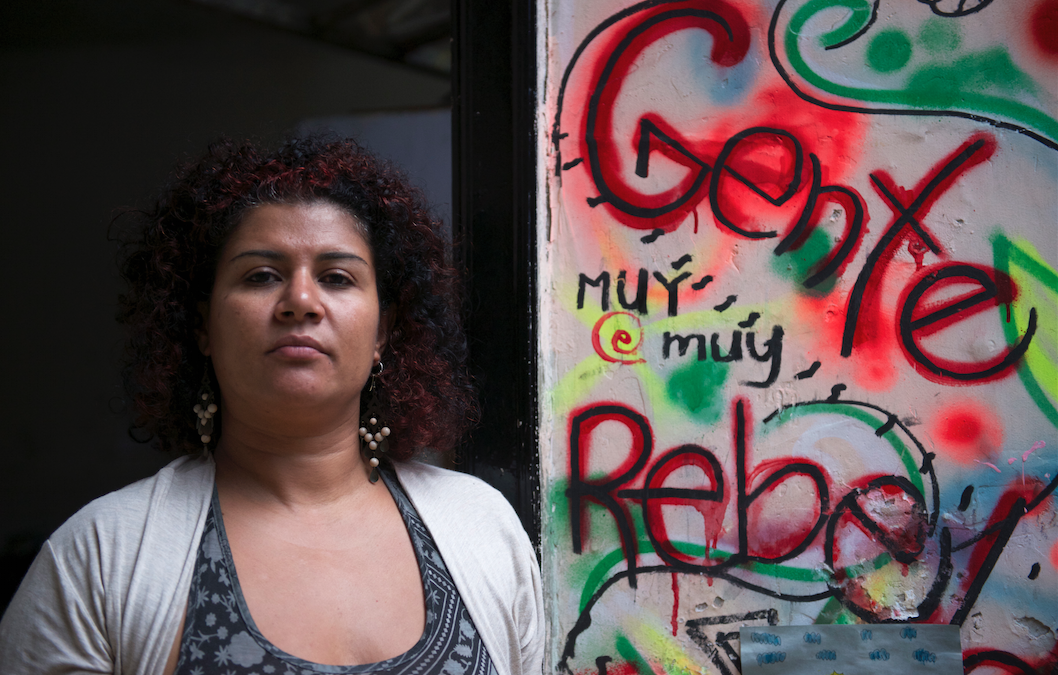 Marta Restrepo en la sede de Mujeres Feministas Antimilitaristas (Alex Zapico)