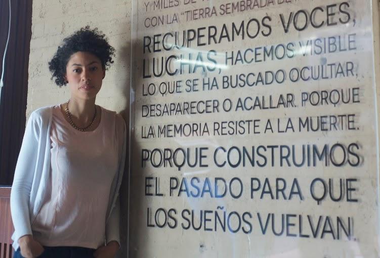 Alejandra Gaviria en el Centro de la Memoria, la paz y la reconciliación, Bogotá (Alex Zapico)
